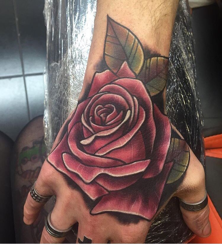 Rose Tattoos Hand