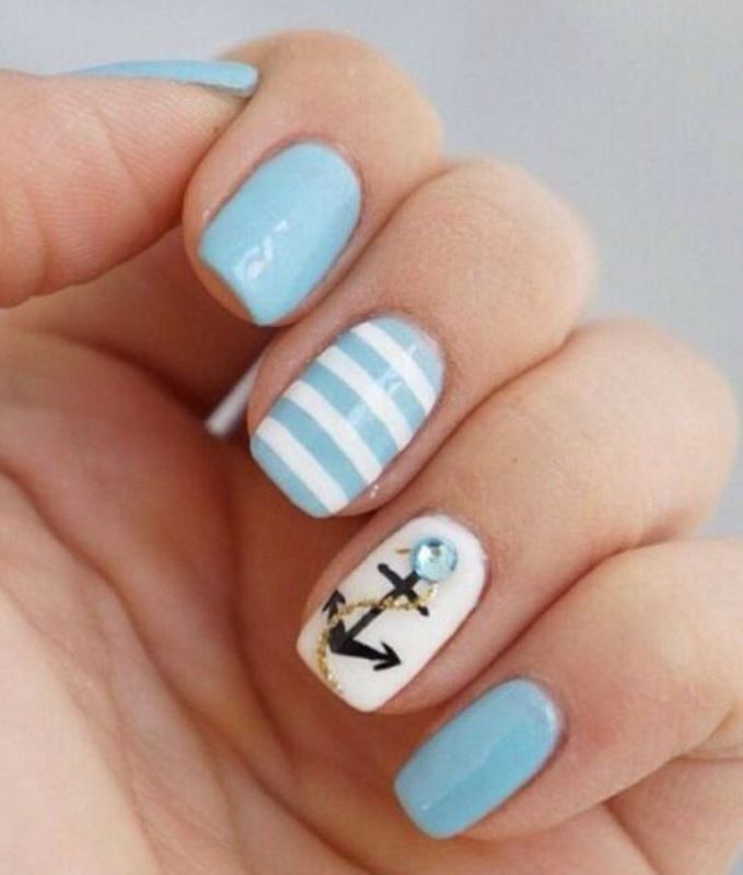 Nail Designs with Anchor