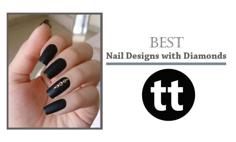 15 Nail Designs with Diamonds To Keep You Flake