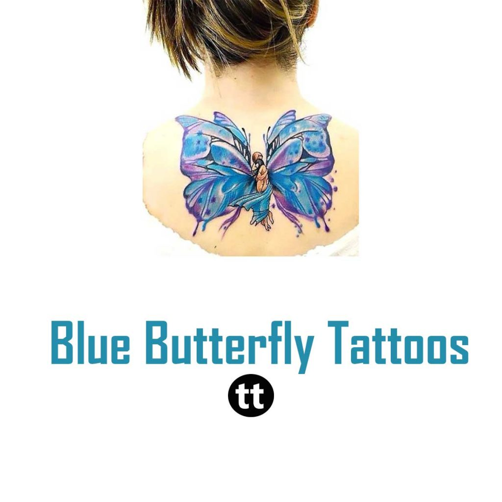 Blue Butterfly Tattoos