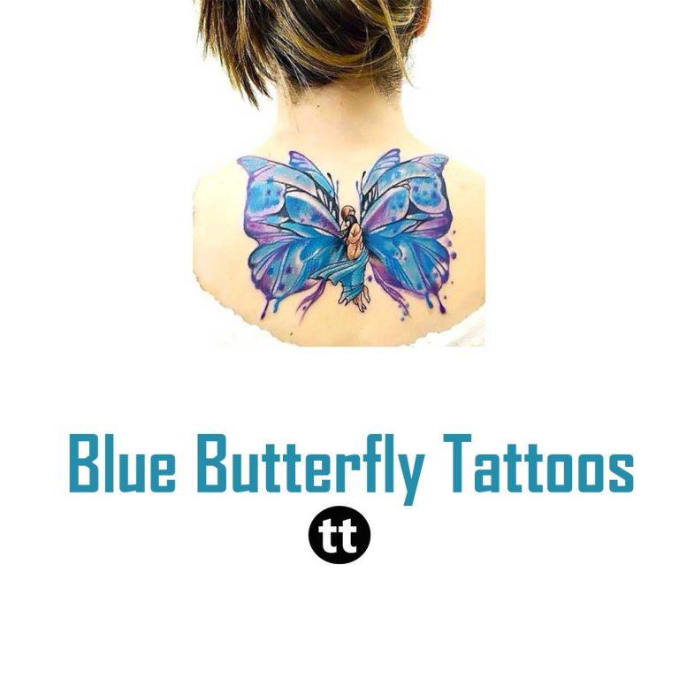 37 Trendy Blue Butterfly Tattoos Ideas