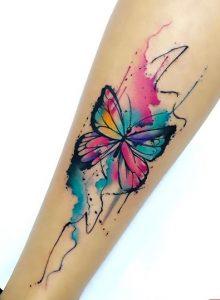 Butterfly Tattoo Leg