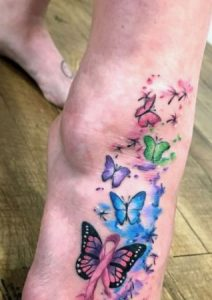 Foot Butterfly Tattoo