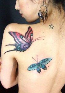 Back Butterfly Tattoo for Women