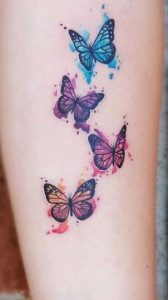 Hand and Finger Butterfly Tattoo