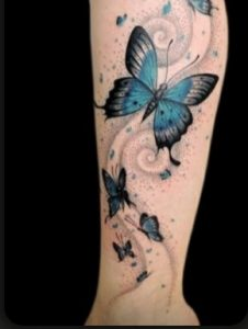 Temporary Butterfly Tattoo