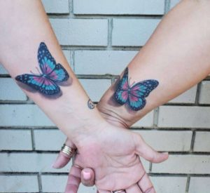 Couple Butterfly Tattoo