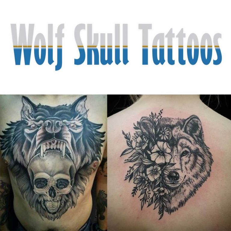 12 Best Wolf Skull Tattoo Ideas & Meaning