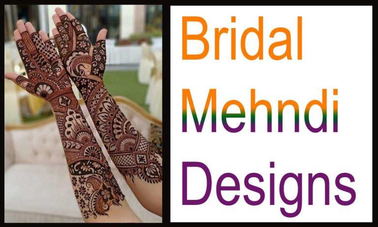 19 Modern Bridal Mehndi Designs for Full Hands & Legs