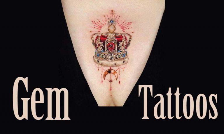 32 Unique Gem Tattoo Designs & Meaning