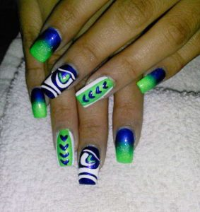 Go Hawks Nails