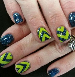 Party Seahawks Nails