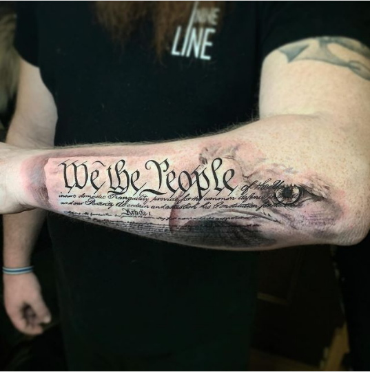 We The People Tattoo Arm