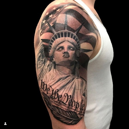 We The People American Flag Tattoo