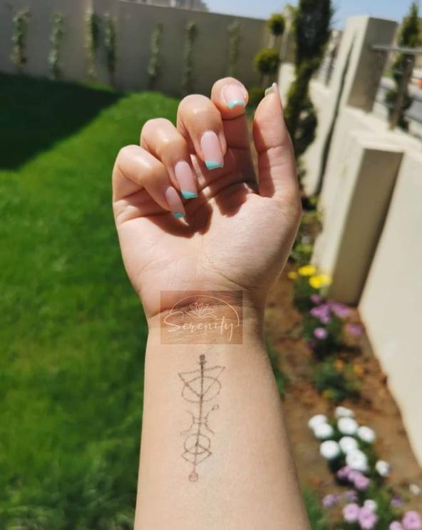 Wrist Serenity Tattoo Symbol