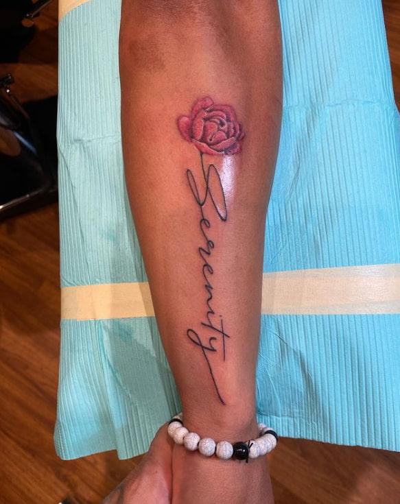 Rose Serenity Tattoo