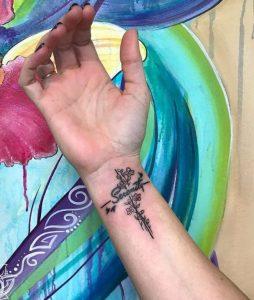 Attractive Serenity Peace Tattoo Design