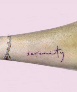 Serenity Prayer Tattoo Sign