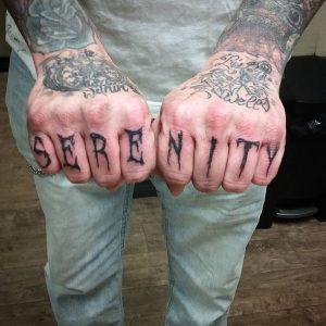 Finger Serenity Tattoo Design