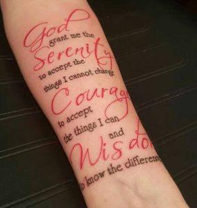God Serenity Tattoo Script