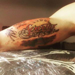 Colored Serenity Tattoo Design