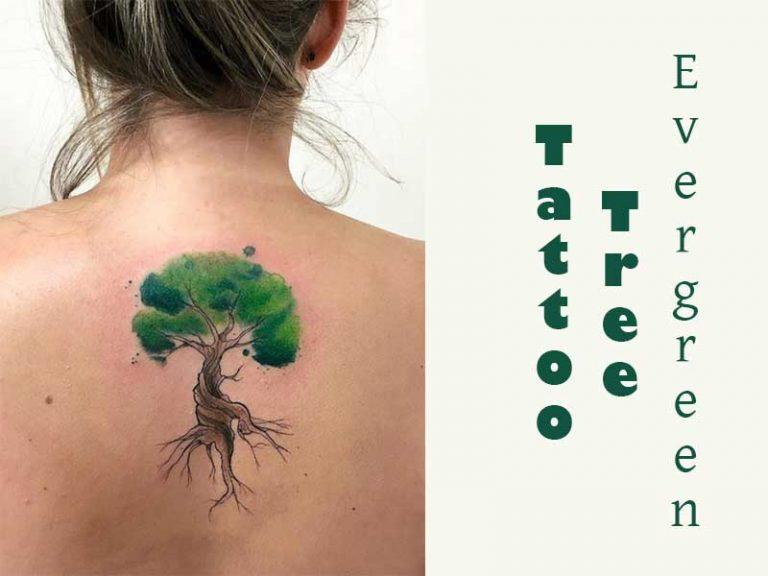 87 Evergreen Tree Tattoo Ideas