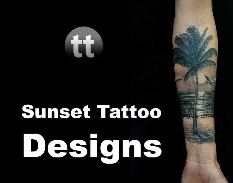 26 Best Sunset Tattoo Designs with Meaning